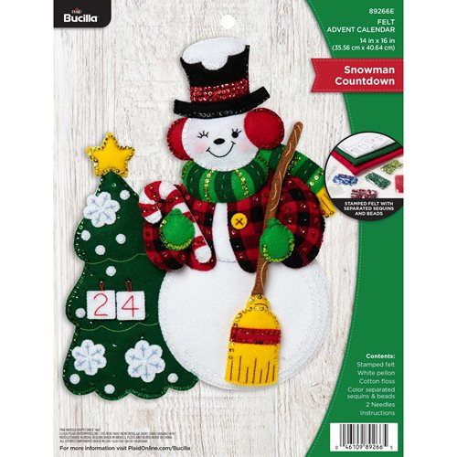 Bucilla ® Seasonal - Felt - Home Decor - Advent Calendar Kits - Snowman Countdown - 89266E