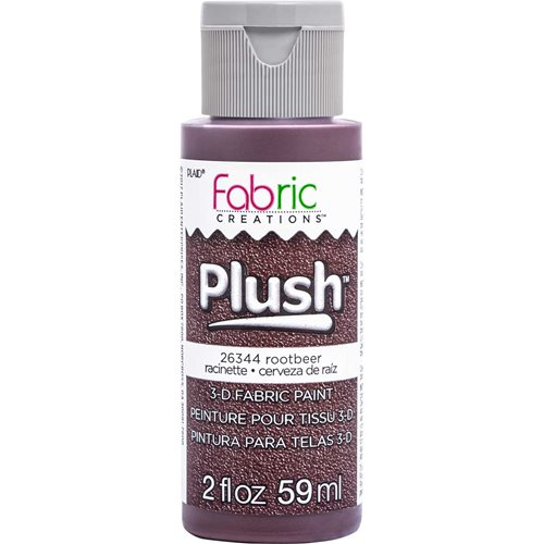 Fabric Creations™ Plush™ 3-D Fabric Paints - Rootbeer, 2 oz. - 26344
