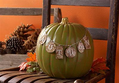 Mod Podge Autumn Crackle Pumpkin
