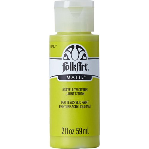 FolkArt ® Acrylic Colors - Yellow Citron, 2 oz.