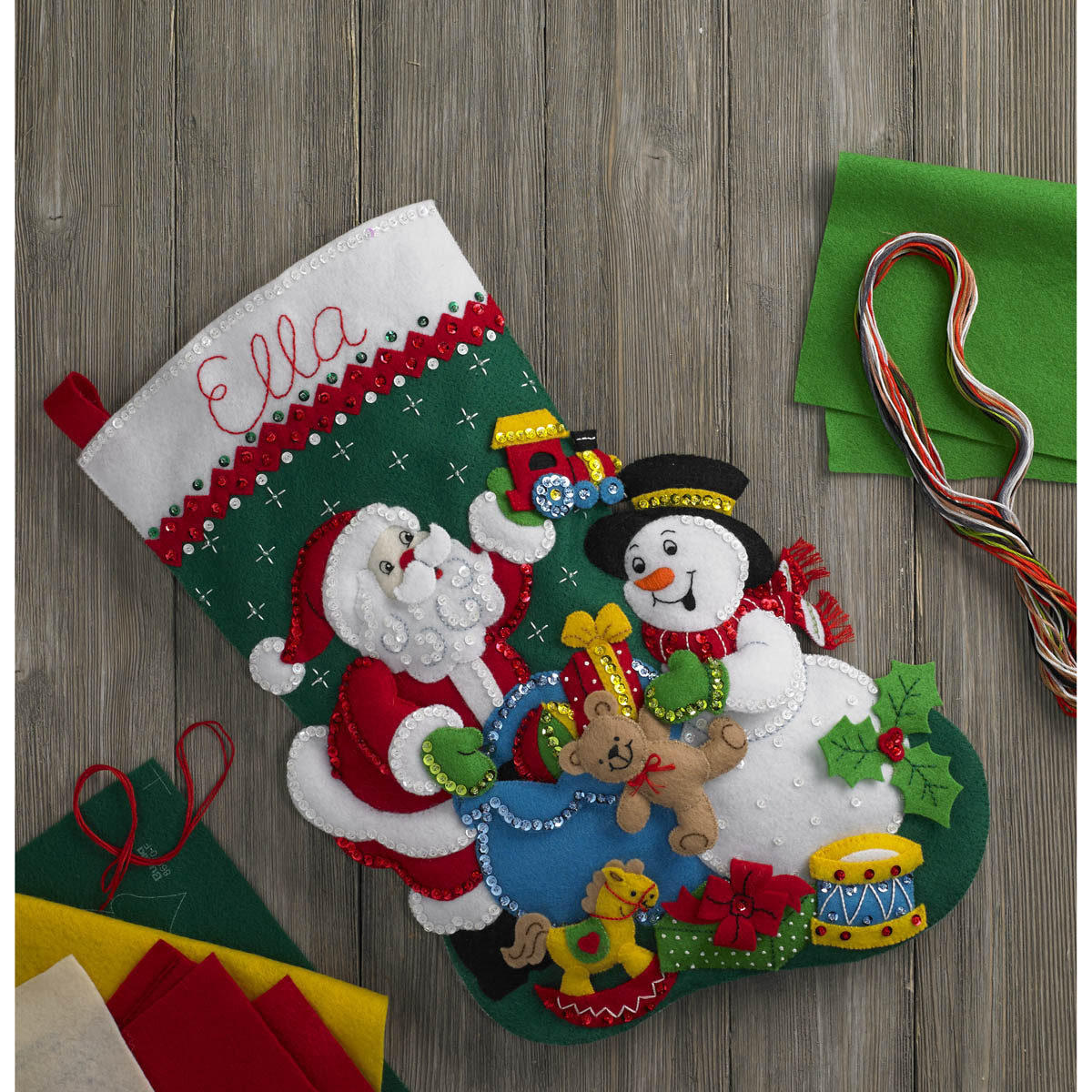 Bucilla ® Seasonal - Felt - Stocking Kits - Santa & Snowman