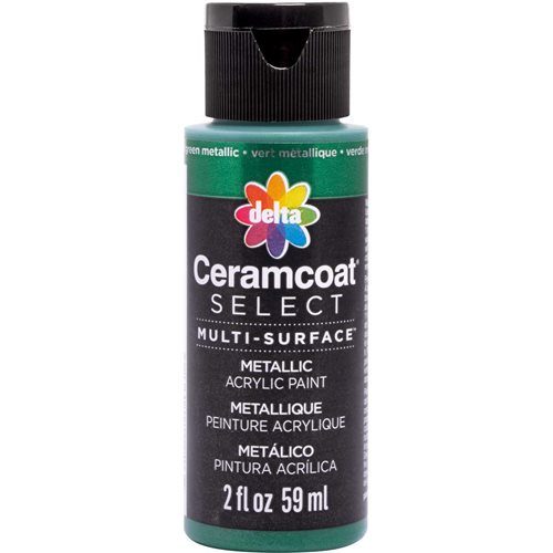 Delta Ceramcoat ® Select Multi-Surface Acrylic Paint - Metallic - Green, 2 oz.