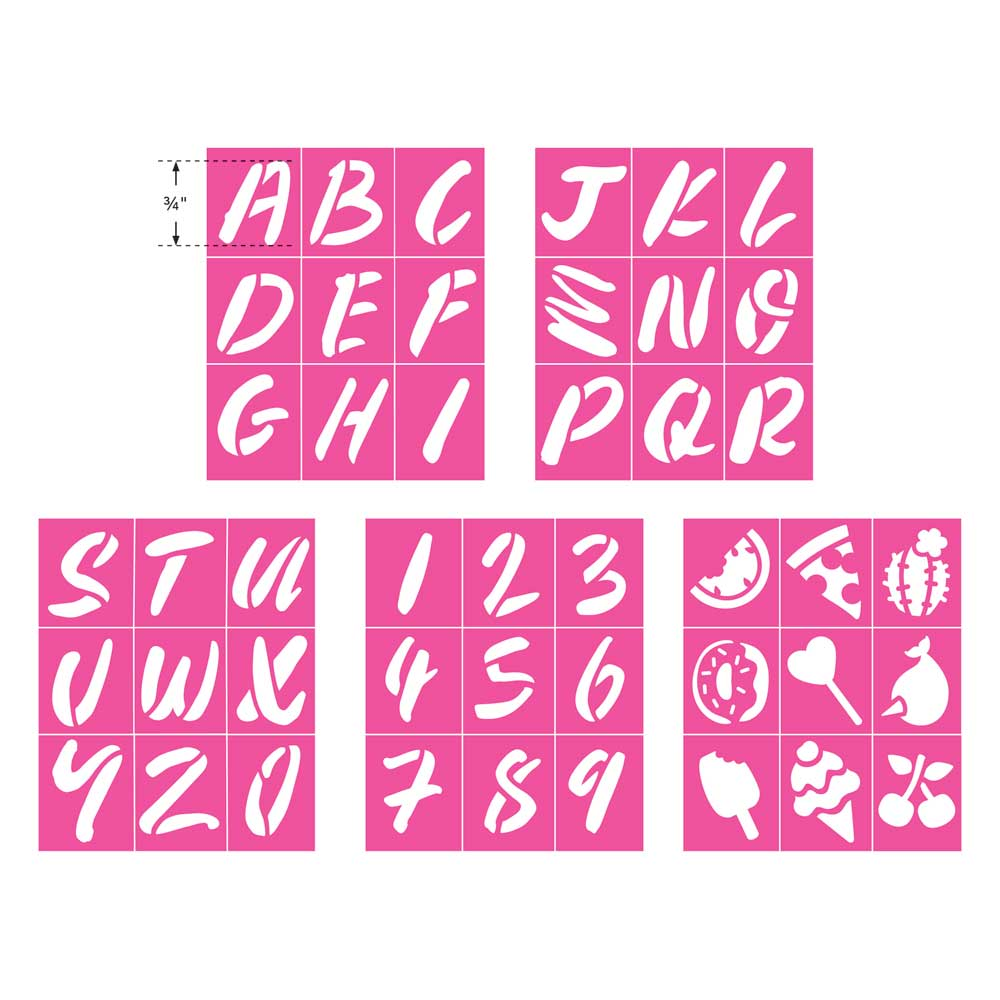 LaurDIY ® Peel & Stick Stencils - Mini - Sweetie Pie