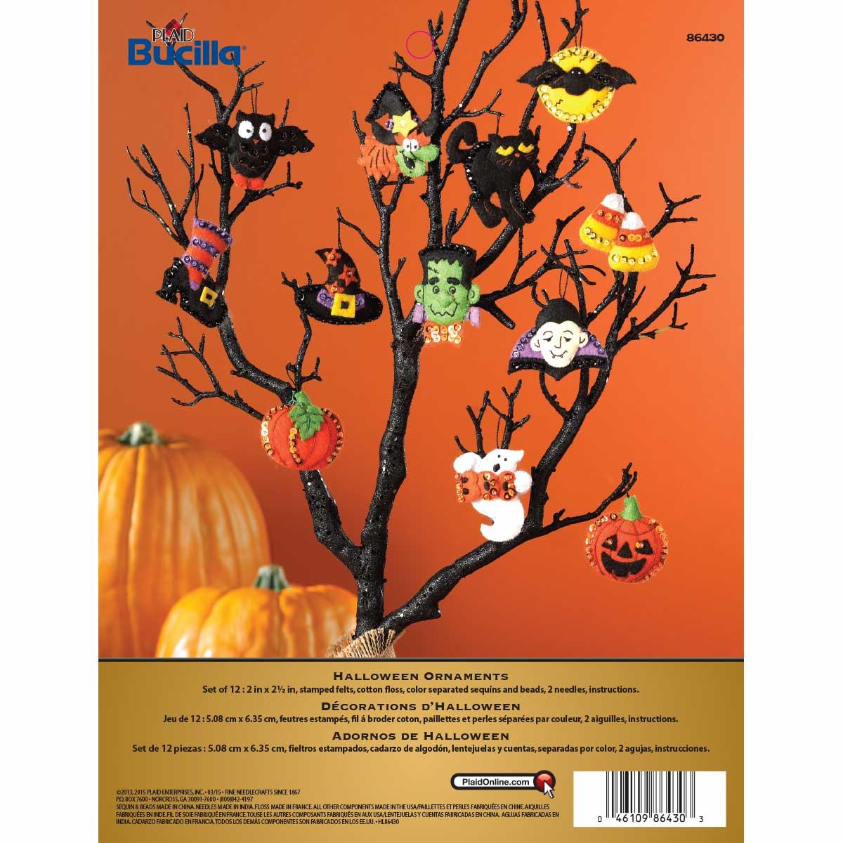 Bucilla ® Seasonal - Felt - Ornament Kits - Halloween - 86430