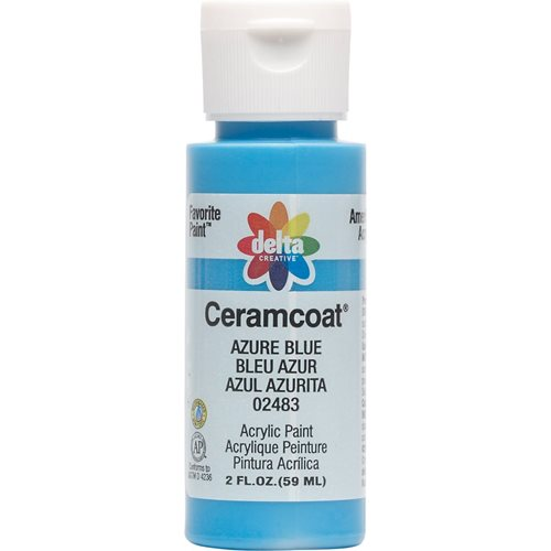 Delta Ceramcoat ® Acrylic Paint - Azure Blue, 2 oz. - 024830202W