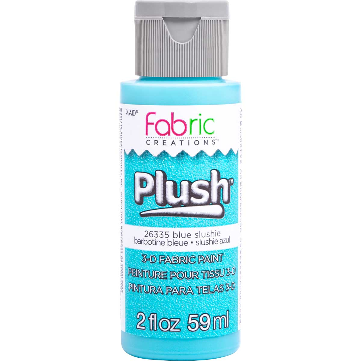 Fabric Creations™ Plush™ 3-D Fabric Paints - Blue Slushie, 2 oz. - 26335