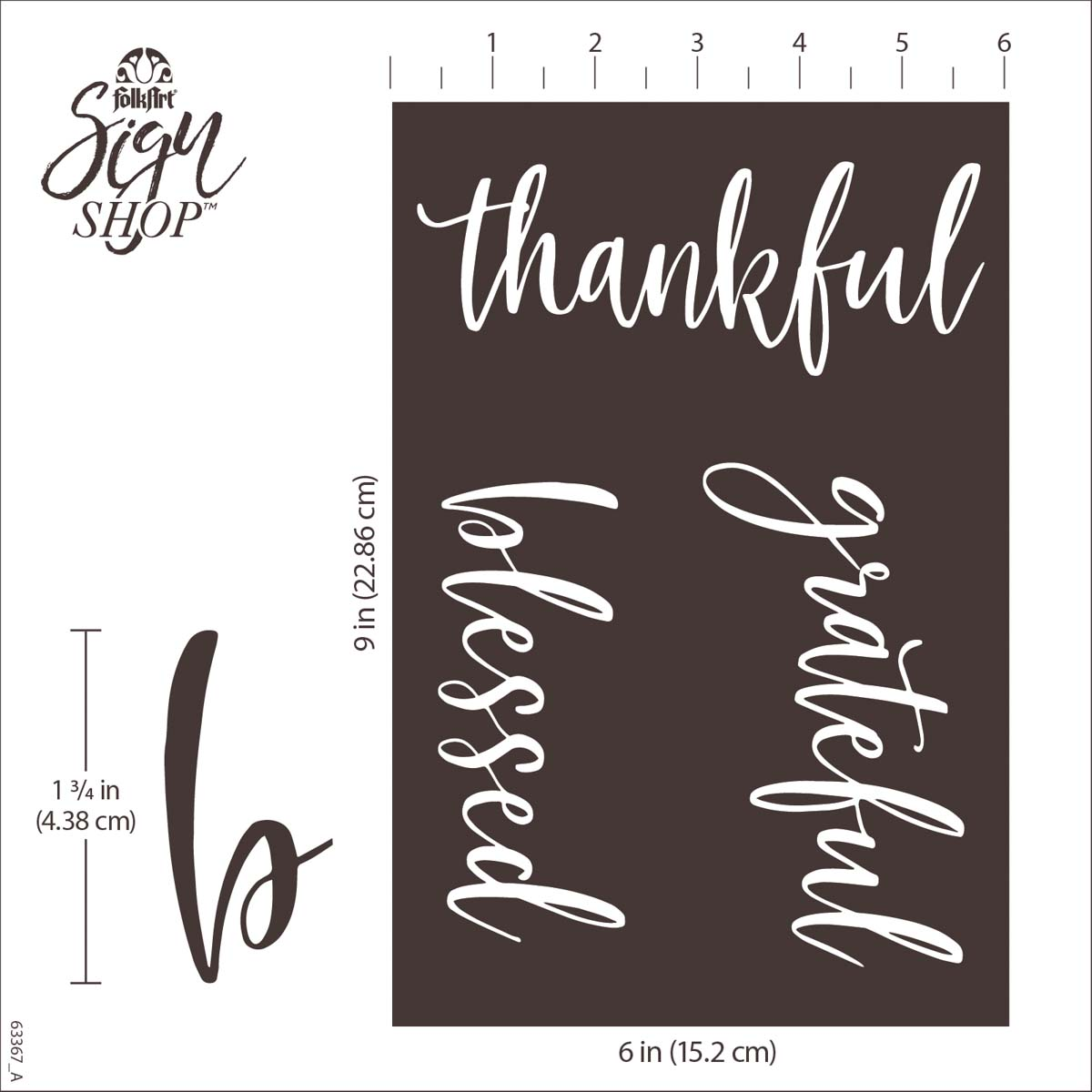 FolkArt ® Sign Shop™ Mesh Stencil - So Grateful, 2 pc. - 63367