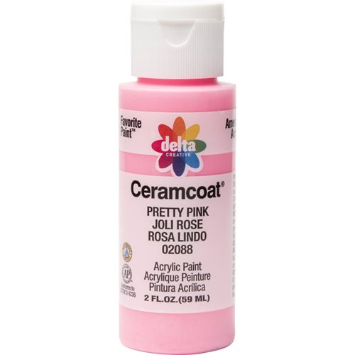 Delta Ceramcoat ® Acrylic Paint - Pretty Pink, 2 oz. - 020880202W