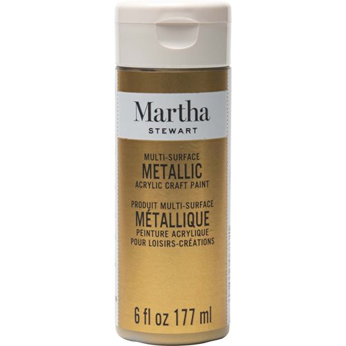 Martha Stewart ® Multi-Surface Metallic Acrylic Craft Paint - Gold, 6 oz. - 33583CA