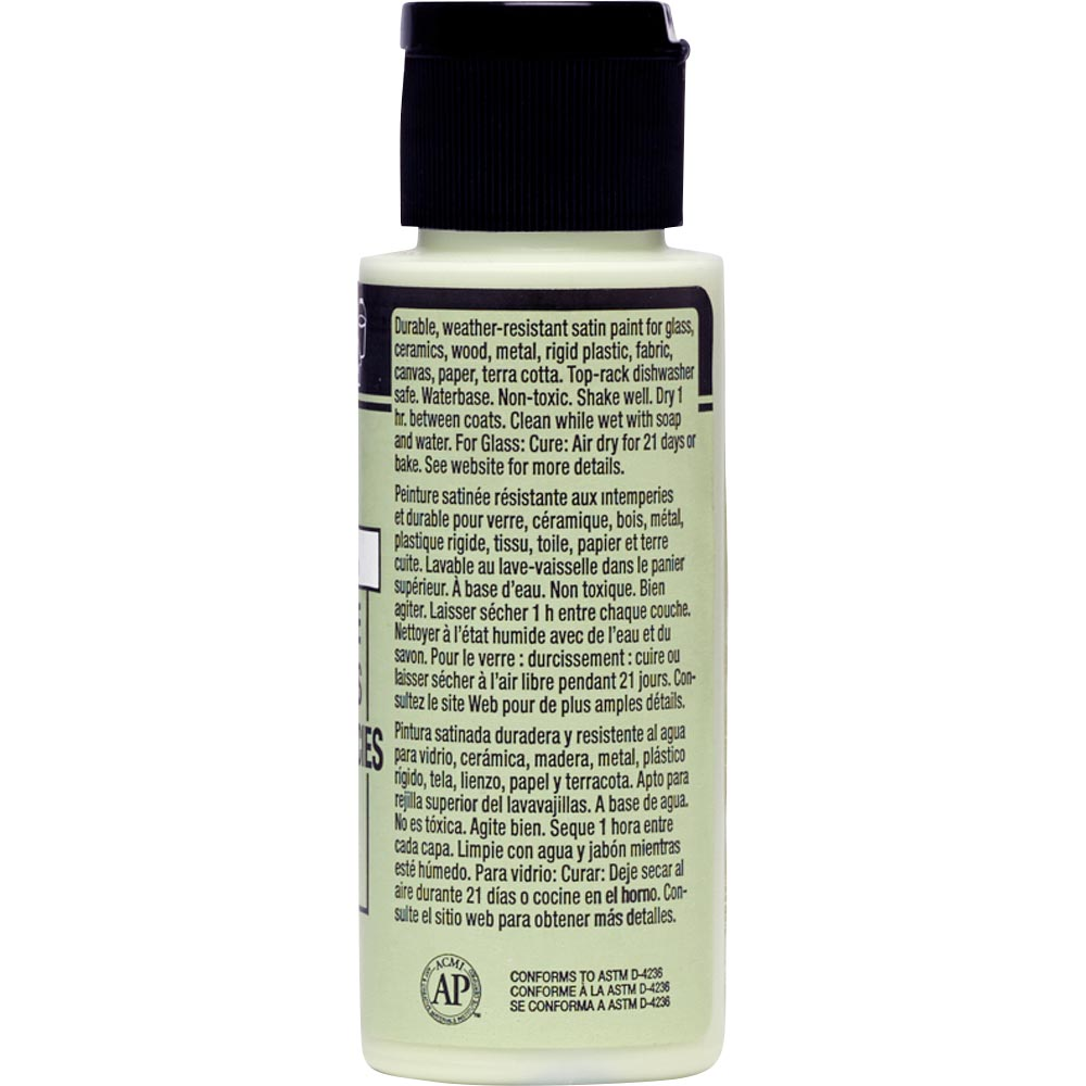 FolkArt ® Multi-Surface Satin Acrylic Paints - Soft Apple, 2 oz.