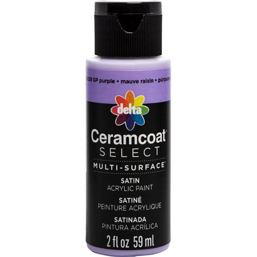 Delta Ceramcoat ® Select Multi-Surface Acrylic Paint - Satin - GP Purple, 2 oz.