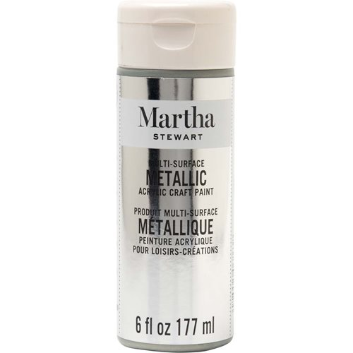 Martha Stewart ® Multi-Surface Metallic Acrylic Craft Paint - Sterling, 6 oz. - 33584CA