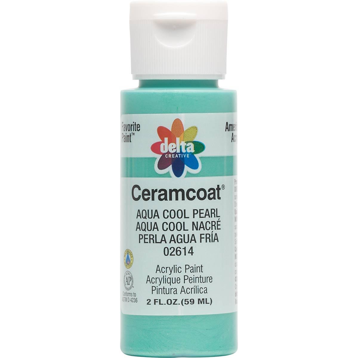 Delta Ceramcoat ® Acrylic Paint - Aqua Cool Pearl, 2 oz. - 026140202W