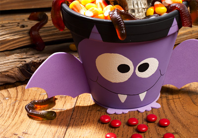 Halloween Batty Pot