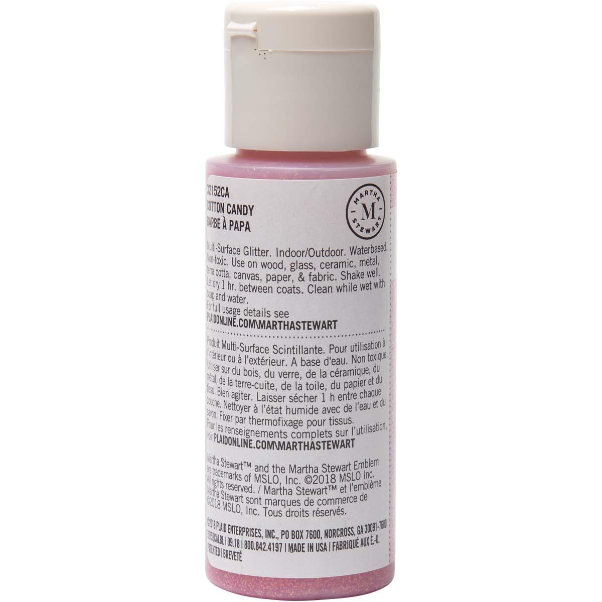 Martha Stewart ® Multi-Surface Glitter Acrylic Craft Paint - Cotton Candy, 2 oz. - 32152CA