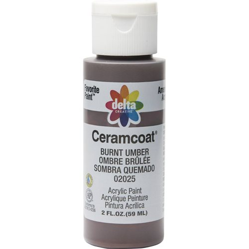 Delta Ceramcoat ® Acrylic Paint - Burnt Umber, 2 oz.