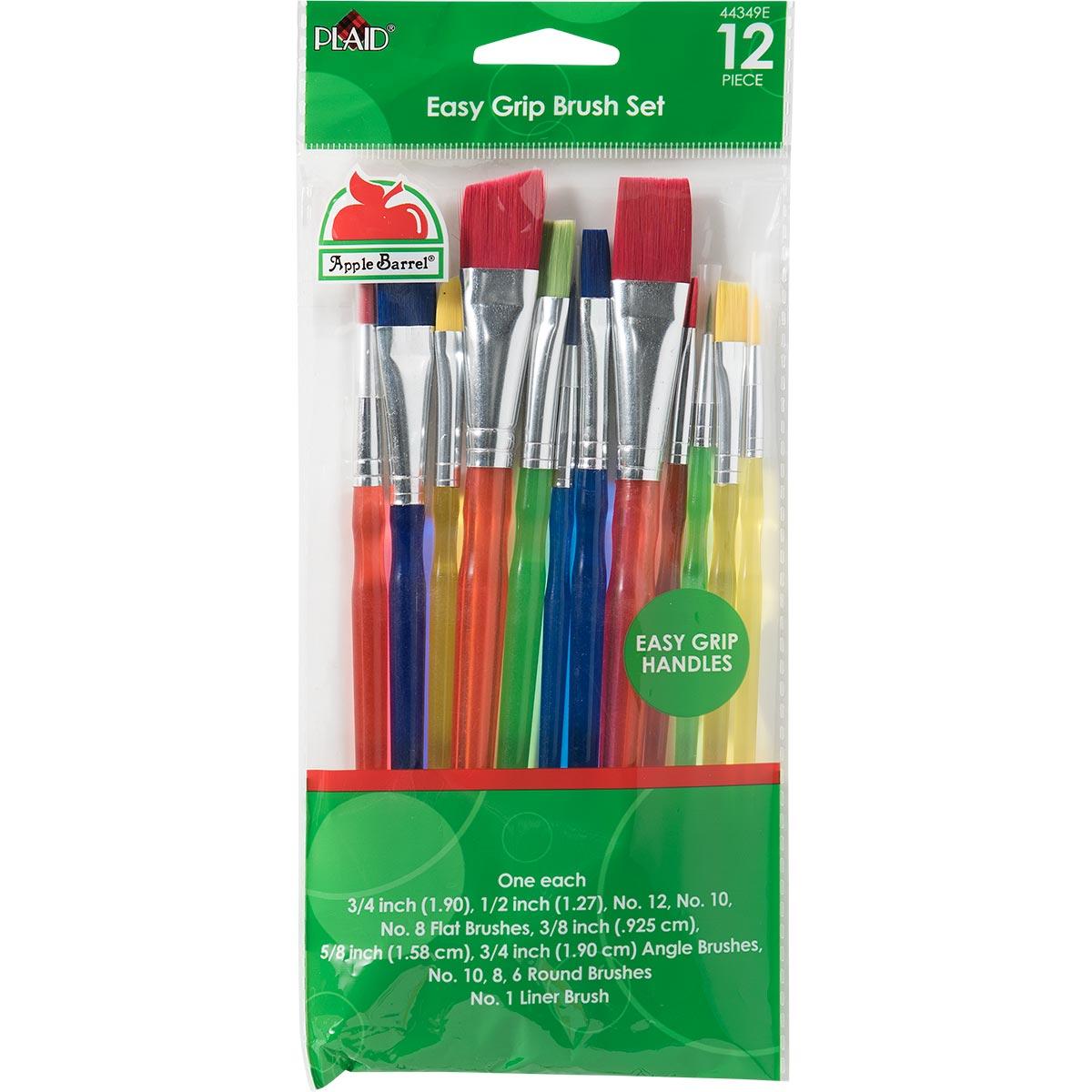 Apple Barrel ® Brush Sets - Easy Grip Set, 12 pc. - 44349E
