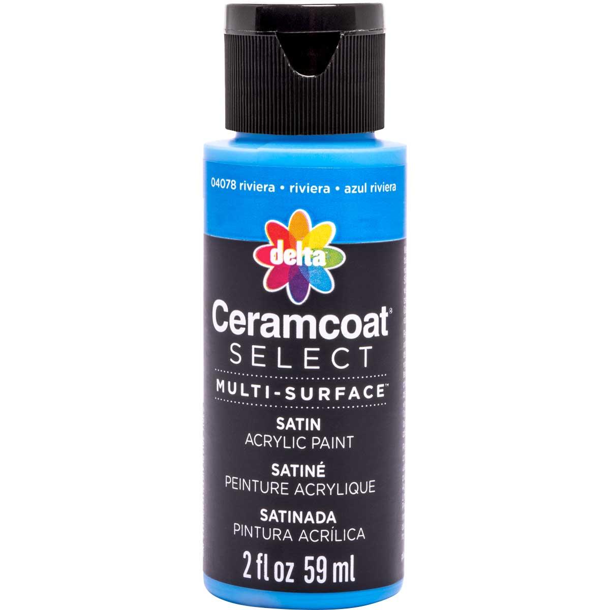 Delta Ceramcoat ® Select Multi-Surface Acrylic Paint - Satin - Riviera, 2 oz.