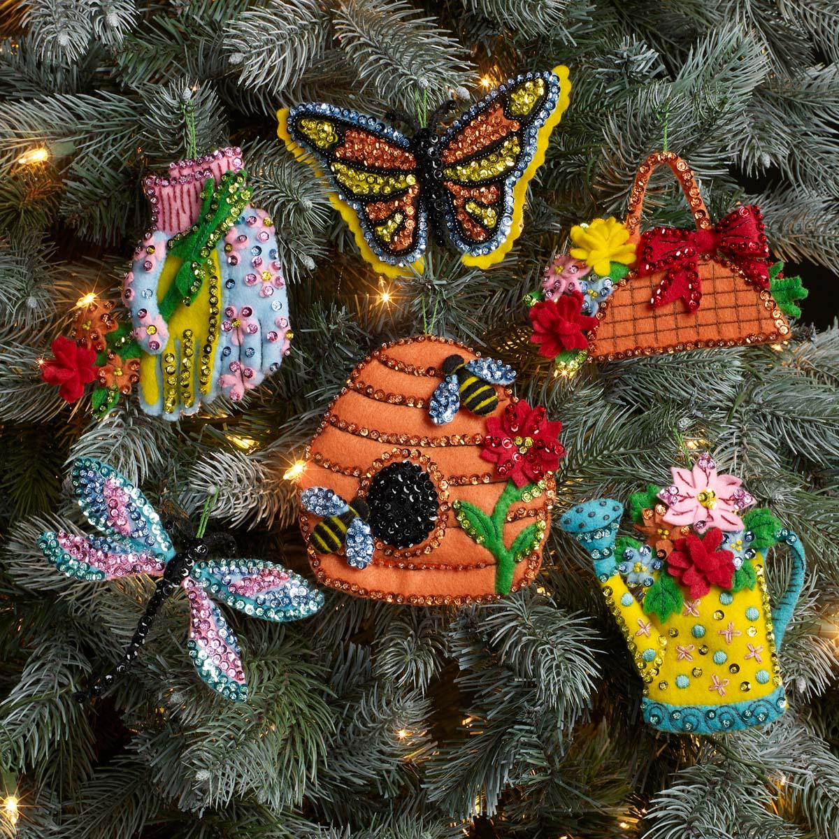 Bucilla ® Seasonal - Felt - Ornament Kits - In The Garden - 89382E