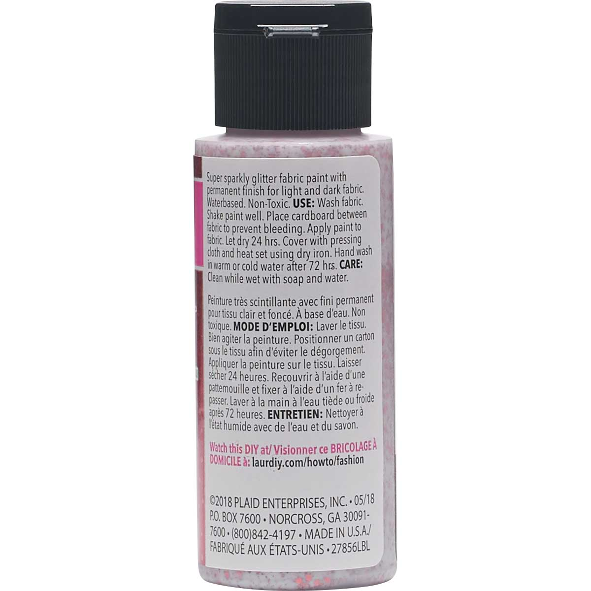 LaurDIY ® Galaxy Glitter Fabric Paint - Big Bang, 2 oz.