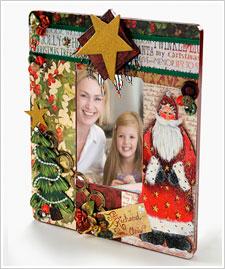 Holiday Santa Collage Art Frame