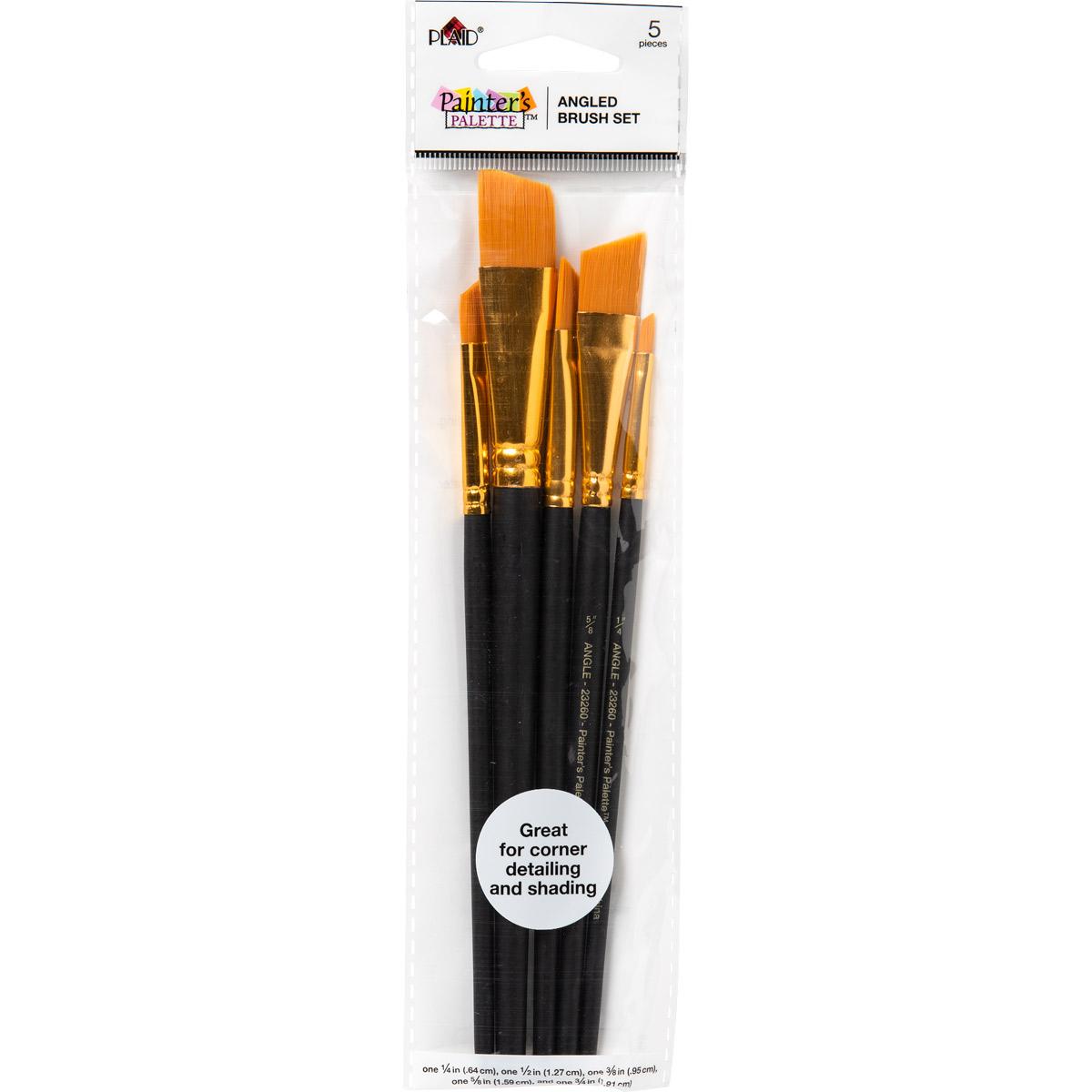 Plaid ® Painter's Palette™ Angled Brush Set, 5 pcs.