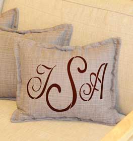 Script Monogram Throw Pillow