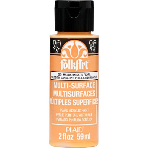 FolkArt ® Multi-Surface Pearl Acrylic Paints - Mandarin Satin, 2 oz.