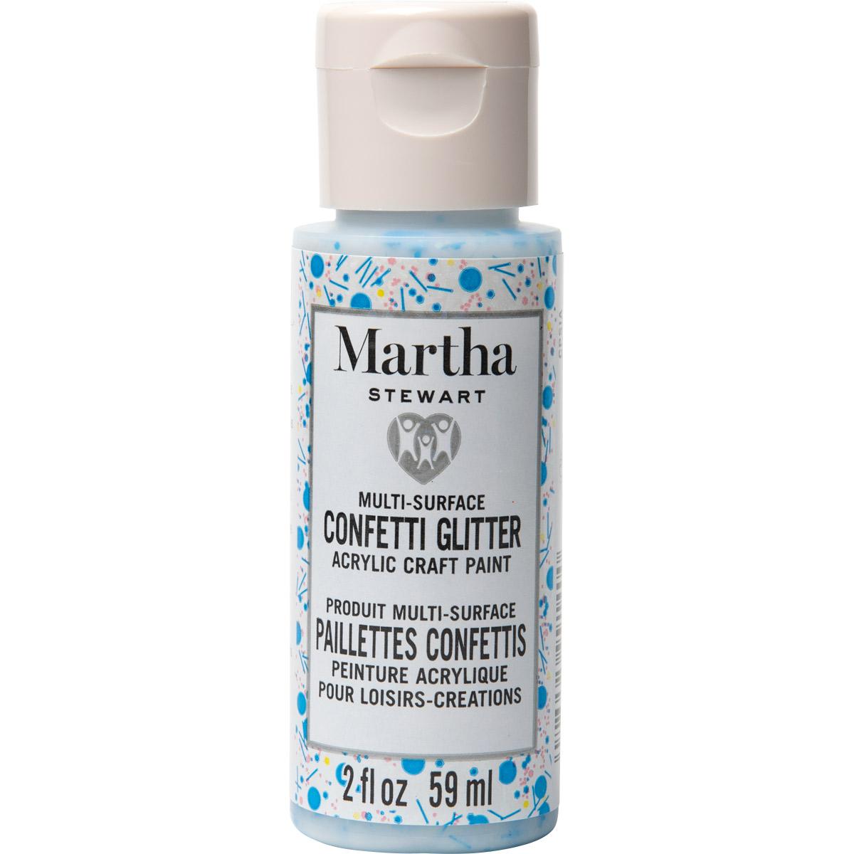 Martha Stewart ® Multi-Surface Confetti Glitter Acrylic Craft Paint CPSIA - Sapphire Celebrations, 2