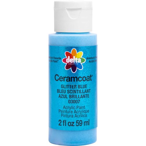 Delta Ceramcoat ® Acrylic Paint - Glitter Blue, 2 oz. - 03007