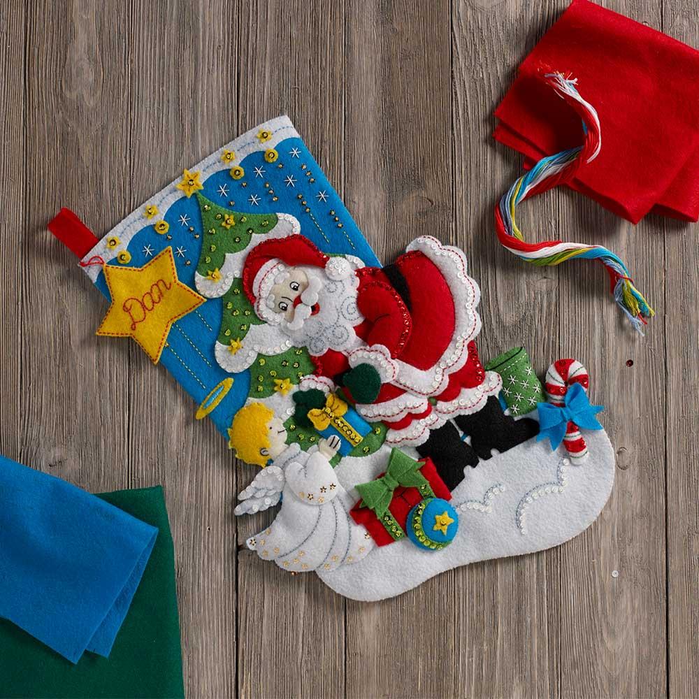 Bucilla ® Seasonal - Felt - Stocking Kits - Santa's Gifts - 86896