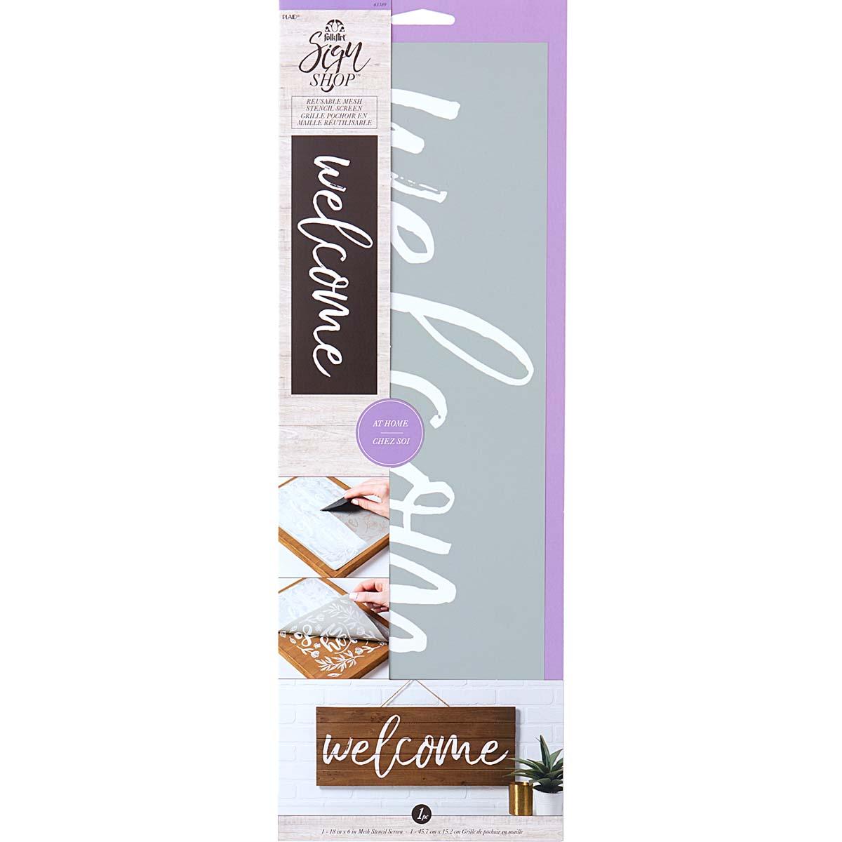 FolkArt ® Sign Shop™ Mesh Stencil - Welcome - 63389