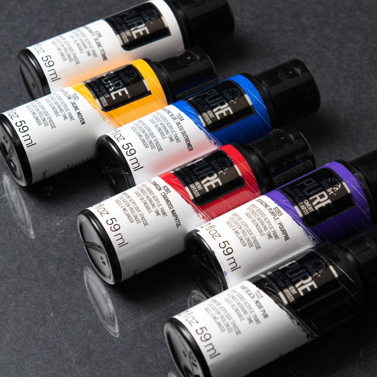 FolkArt ® Pure™ Artist Pigment Paints Sets - 6 Color Set - PROMOFAPAP1