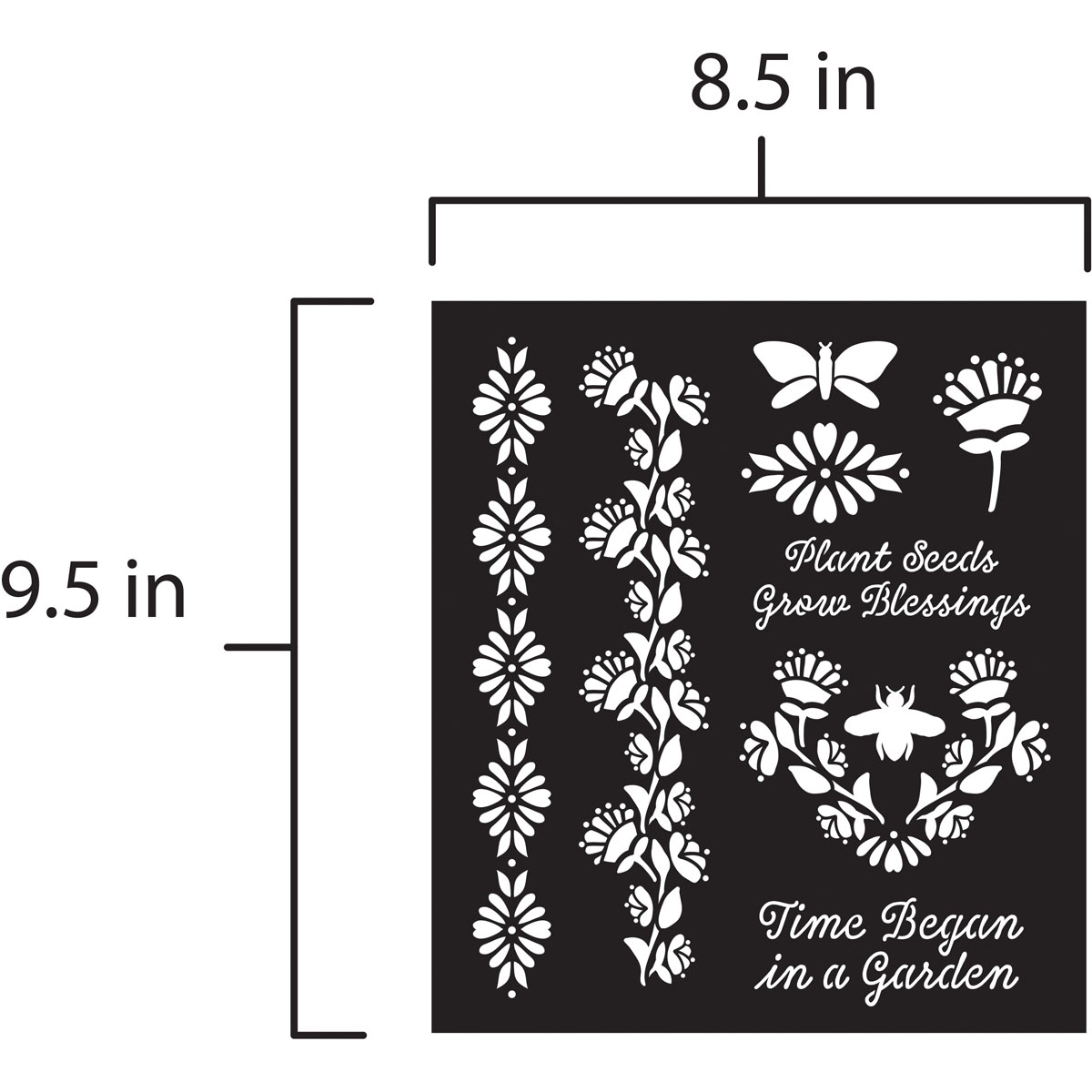 FolkArt ® Laser Cut Adhesive Stencils - Folk Garden - 39268