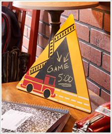 Fire Truck Message Board