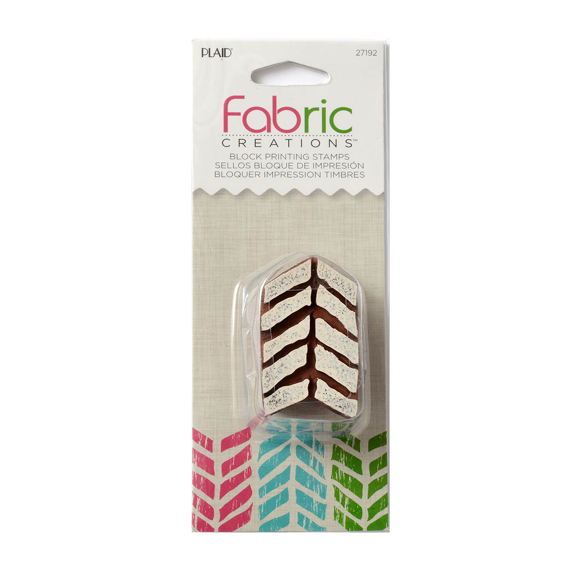 Fabric Creations™ Block Printing Stamps - Small - Tribal Chevron - 27192