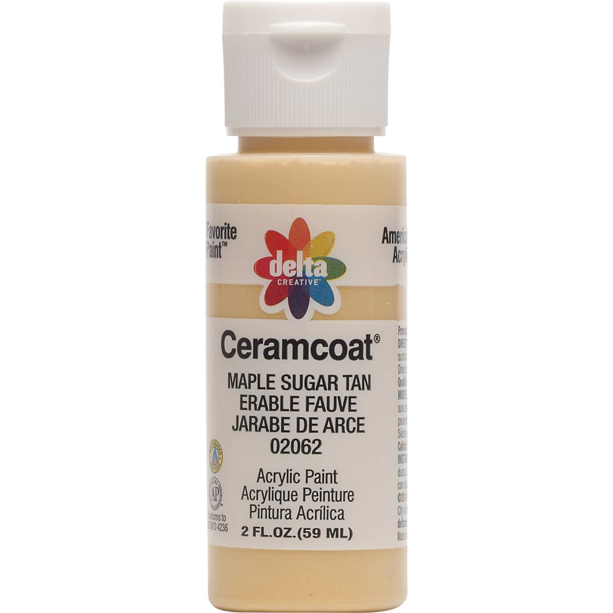 Delta Ceramcoat ® Acrylic Paint - Maple Sugar Tan, 2 oz. - 020620202W
