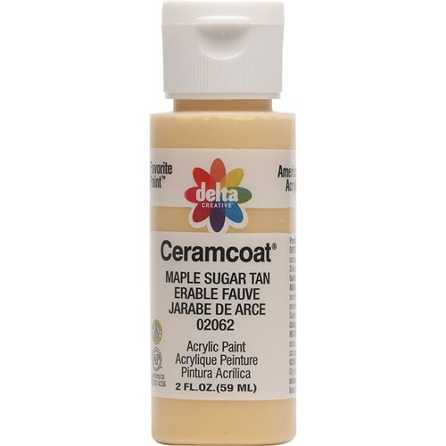 Delta Ceramcoat ® Acrylic Paint - Maple Sugar Tan, 2 oz.