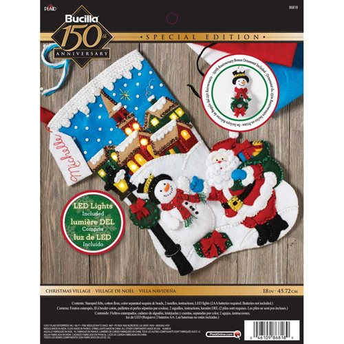 Bucilla ® Seasonal - Felt - Stocking Kits - Christmas Village