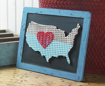 Love America Chalkboard Map