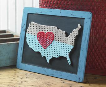 Love America Chalkboard Map