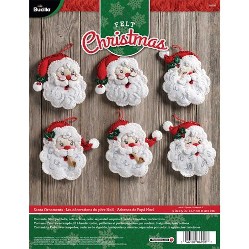 Bucilla ® Seasonal - Felt - Ornament Kits - Santa
