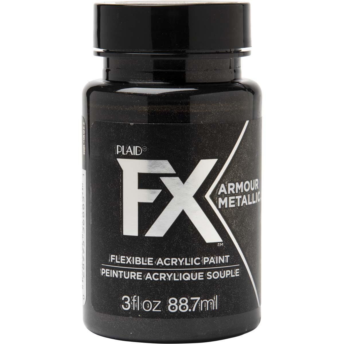 PlaidFX Armour Metal Flexible Acrylic Paint - Gauntlet, 3 oz. - 36885