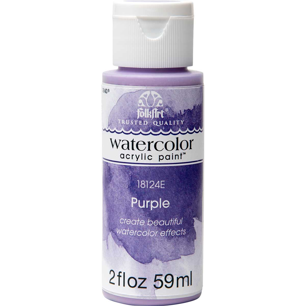 FolkArt ® Watercolor Acrylic Paint™ - Purple, 2 oz. - 18124