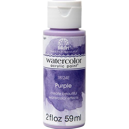 FolkArt ® Watercolor Acrylic Paint™ - Purple, 2 oz.