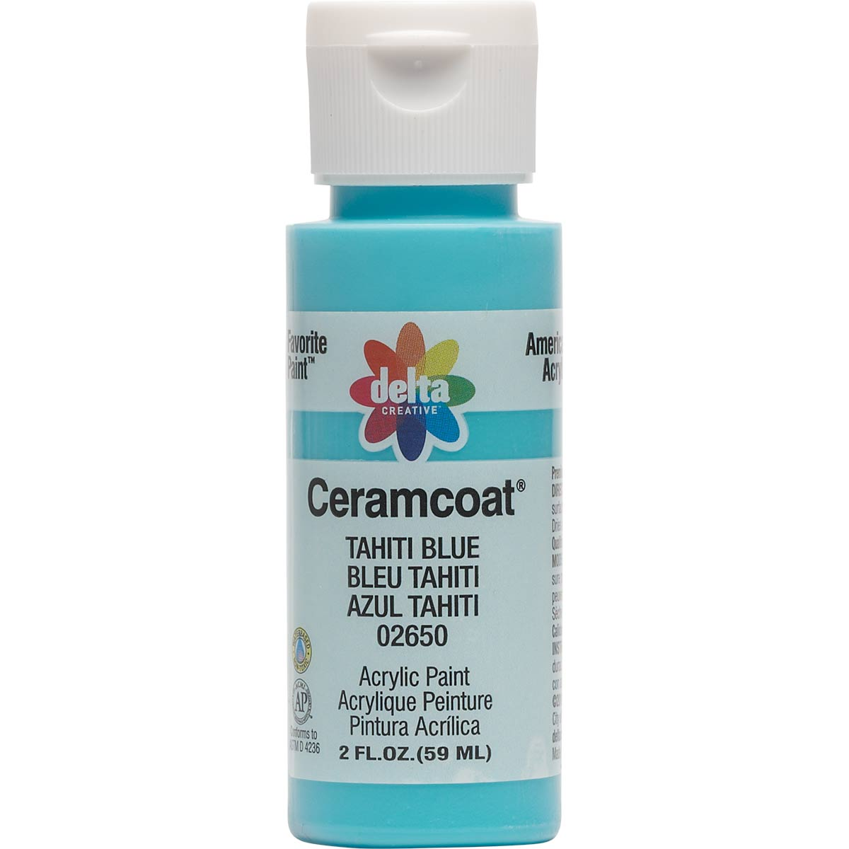 Delta Ceramcoat ® Acrylic Paint - Tahiti Blue, 2 oz. - 026500202W