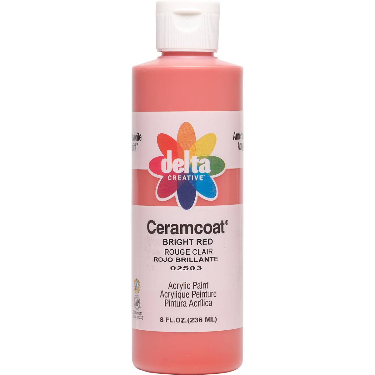 Delta Ceramcoat ® Acrylic Paint - Bright Red, 8 oz. - 025030802W