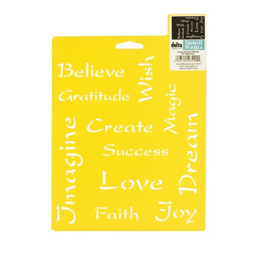 Delta Stencil Mania™ - Inspirational Words - 970900710