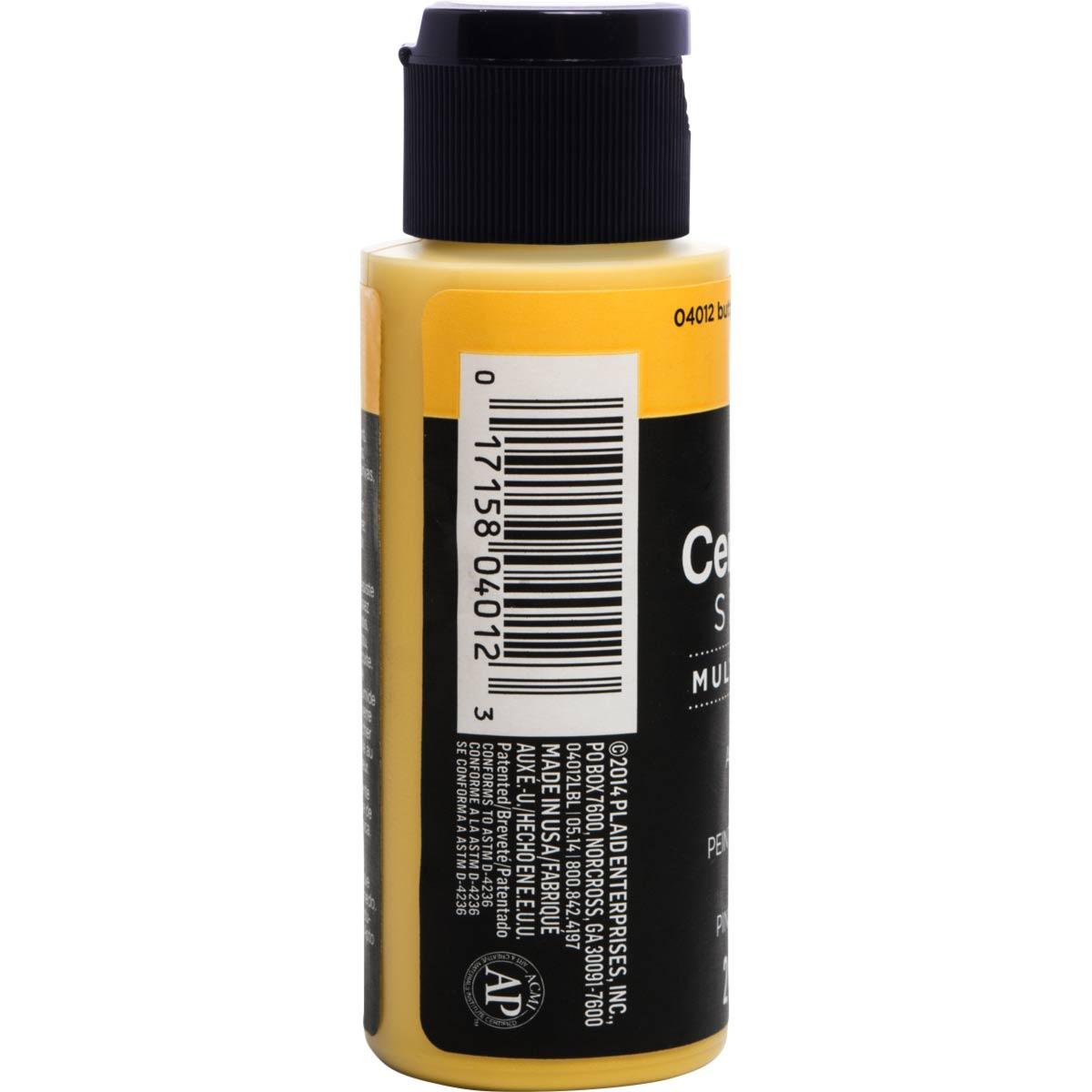 Delta Ceramcoat ® Select Multi-Surface Acrylic Paint - Satin - Butternut, 2 oz.