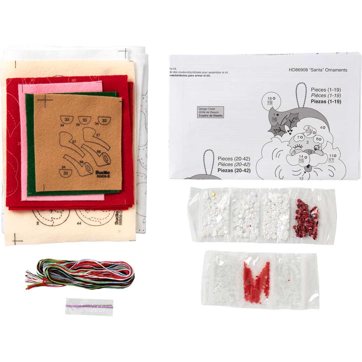 Bucilla ® Seasonal - Felt - Ornament Kits - Santa
